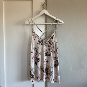 🐚 euc | aeo | strapping floral knit tank